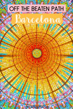 Planning a trip to Barcelona Spain and want to avoid crowds? If so, this guide's for you. I give you amazing hidden gems and unusual things to do in Barcelona, for the discerning tourist who wants to get off the beaten path in Spain. There are more sites than Sagrada Familia and La Rambla. You should put these amazing must see sites and landmarks on your itinerary for Barcelona or northern Spain.  #Barcelona #Spain #ItinerariesFor Spain #art #homeschooling Best Cities In Europe, Travel Tips For Europe, Travel Destinations, Guide Amsterdam, Madrid, Places In Spain, Barcelona Catalonia, Barcelona Travel, Unusual Things