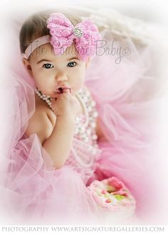 Pink Glamour Girl Headband from The Couture Baby