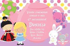 Convite digital personalizado Alice no país das maravilhas 003