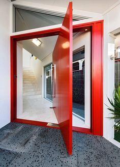 Modern red door..