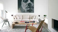 salon decorado por Batavia de una de las promociones de pisos del estudio de arquitectura ABATON