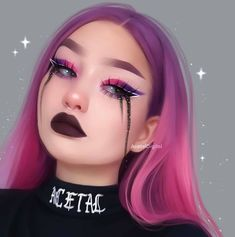 Repost with animation! Drawing of . Repost with animation! Animation application: muglife Duration: hours Program: paint tool, is Tumblr Drawings, Girly Drawings, Colorful Drawings, Digital Art Anime, Digital Art Girl, Digital Portrait, Dibujos Tumblr A Color, Black Tears, Illustration Art Drawing