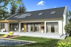 Have a look at our site for a whole lot more pertaining to this breathtaking photo Contemporary Cottage, Exterior Makeover, Modern Barn, Exterior Design, Ideal Home, House Plans, Construction, House Design, Building