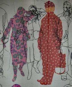 58 Super Ideas For Fashion Art Gcse Textile Artists Textile Fiber Art, Textile Artists, Fine Art Textiles, Sketchbook Inspiration, Art Sketchbook, Rosie James, Impression Textile, Outline Art, A Level Art
