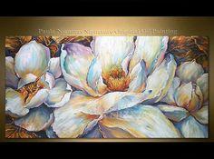 Pintura floral de magnolias aceite añade un aura de elegancia