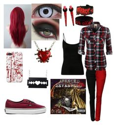 """""""City of evil❤️"""" by jackyxshadows ❤ liked on Polyvore featuring Vans"""