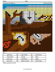 Persistence of Memory- Megapixel Painting Answer Key color by numbers Cross Stitch Art, Beaded Cross Stitch, Cross Stitch Designs, Cross Stitching, Cross Stitch Embroidery, Cross Stitch Patterns, Perler Bead Templates, Perler Patterns, Perler Beads