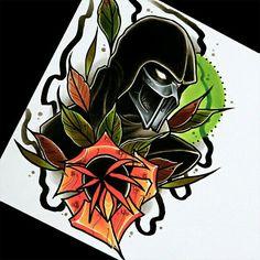 Sub Zero Tattoo Mortal Kombat Tattoo, Scorpion Mortal Kombat, Mortal Kombat Art, Rose Tattoos, Body Art Tattoos, Nerdy Tattoos, Noob Saibot, Alien Tattoo, Mortal Combat