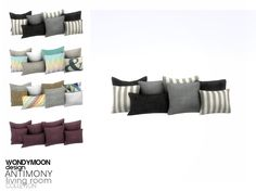 - Antimony Living - Cushion (2x1) Found in TSR Category 'Sims 4 Miscellaneous Decor'