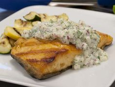 Arctic Char with Green Apple-Dill Sauce