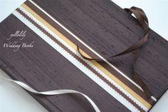 NEW---The Merrion---Dupioni Silk Wedding Guest Book