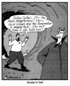 """The Far Side"" by Gary Larson. Far Side Cartoons, Far Side Comics, Good Cartoons, Funny Cartoons, Funny Comics, Funny Jokes, Hilarious, Gary Larson Far Side, Frases"