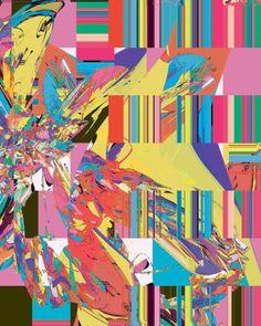 Geometry meets organic meets technicolour.