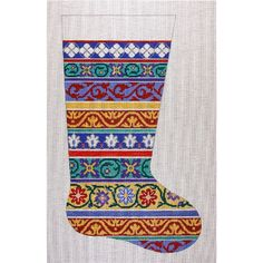 AP2005 Ribbons Christmas Stocking Price: $168.00 SKU: AP2005 Height: 19.00 Width: 11.00 Brand: Alice Peterson Shipping: Calculated at che