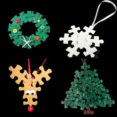 Puzzle Piece Ornaments                                                                                                                                                      More