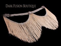 Belt 36 38 Inch Belt Cream Fringe Silver by darkfusionboutique Belly Dance Belt, Belly Dancers, African Print Dresses, African Prints, African Fabric, African Dress, Burlesque Outfit, Dance Gear, Gypsy Costume