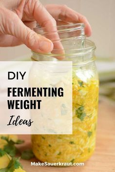 Prevent molds from growing on your ferment by using fermentation weights. Here are ideas for DIY fermentation weights that you can find in your own home. Homemade Sauerkraut, Sauerkraut Recipes, Fermented Cabbage, Fermented Foods, Fermentation Crock, Clean Eating Diet, Recipes For Beginners, Vegetable Recipes, Weights