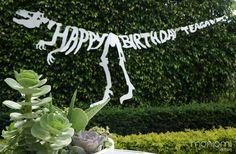 "~ Dino Shin-dig - ""happy birthday Teagan"" sign | event by Moniomi Design ~"