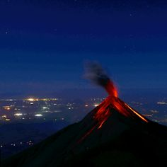 Volcano of Fire, seen by the Volcano Acatenango. Photo by Billy Muñoz from Acuarela Chapina.   ONLY THE BEST OF GUATEMALA
