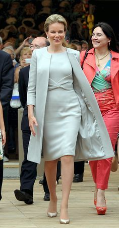 Queen Mathilde of Belgium visits the pavilion of Belgium during the national day…