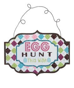Another great find on #zulily! Easter 'Hippity Hoppity' Wall Sign Set by Transpac Imports #zulilyfinds