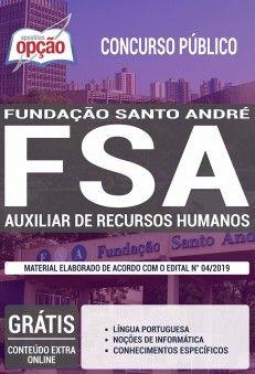 Apostila Auxiliar De Recursos Humanos Concurso Fsa 2019