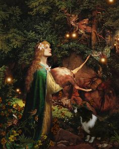 The Protector of the Forest. By Howard David Johnson. In Germanic Elven folklore, Atalanta took a vow of virginity to Artemis and grew up in the wilderness. #goddess