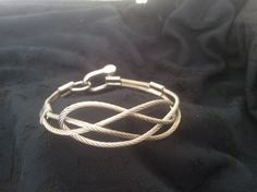 All inox steel handmade bracelet with a knot