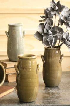 slender ceramic vase