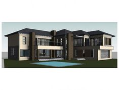 Modern House Plans - South African Architectural Designs - Archid Split Level House Plans, Square House Plans, Metal House Plans, Modern House Plans, House Plans South Africa, African House, My Dream Home, Dream Homes, Architecture Design