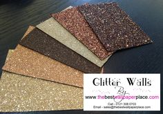 Shades of Brown Glitter Wallcovering