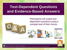5-text-dependent-questions-and-evidencebased-answers by mullinshe via Slideshare
