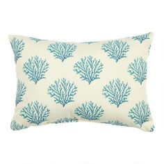 One of my favorite discoveries at ChristmasTreeShops.com: Blue Coral Reefs Indoor/Outdoor Oblong Pillow