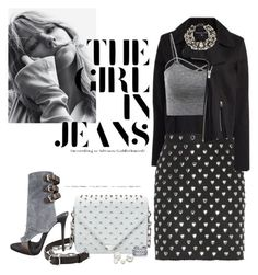 """""""The Girl In Jeans"""" by chileez ❤ liked on Polyvore featuring Timo Weiland, Yves Saint Laurent, Alexander Wang, Giuseppe Zanotti, Kenneth Jay Lane, Lydell NYC and Allurez"""