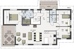 Bungalow Floor Plans, My Dream Home, House Plans, Sweet Home, Layout, Exterior, Colours, Flooring, How To Plan