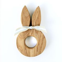 Bunny ears egg cup is handmade from solid oak and perfect as an Easter or christening gift. Wood Crafts, Diy And Crafts, Shops, Egg Holder, Egg Cups, Wooden Pegs, Christening Gifts, Wood Toys, Bunny Rabbit