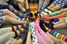 Crazy sock exchange for Christmas! I love crazy socks! Girl Scout Leader, Girl Scout Troop, American Heritage Girls, Girl Scout Activities, Girl Scout Camping, Girl Scout Juniors, Daisy Girl Scouts, Brownie Girl Scouts, Girl Scout Crafts