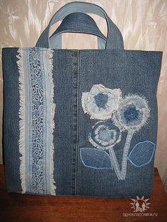 Одноклассники Denim Tote Bags, Denim Purse, Tote Handbags, Purses And Handbags, Mochila Jeans, Blue Jean Purses, Shabby Chic Stil, Recycled Denim, Backpack Purse