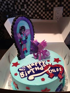 My little pony equestria girls cake!
