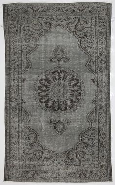 Use the 20% off coupon code BAZAARBAYARPINTEREST to buy this Cool Mid Grey Medallion Vintage Turkish Rug by bazaarbayar on Etsy