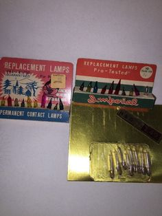 Vtg Christmas Replacement Lamps Bulb Japan Pink Red Yellow Blue Green clear 6/8V