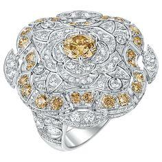 18K white gold set with BrilliantCut brown Diamonds and white diamonds