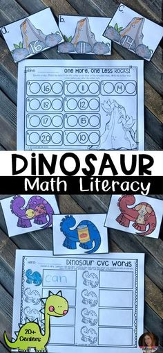 Dinosaur Math and Literacy Centers are exactly what you are looking for to enhance your literacy and math centers. The activities target skills that kindergarten students are working on in February. There