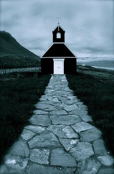 Church in Rauðisandur, West Fjords, Iceland.