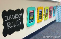 framed classroom rules look like a work of art