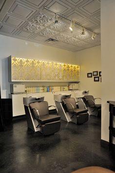 Salon of Distinction: Trilogy Salon - Awards & Contests - Salon Today Hair Salon Interior, Salon Interior Design, Home Salon, Salon Design, Spa, Salon Shampoo Area, Beauty Bar Salon, Salon Furniture, Salon Style