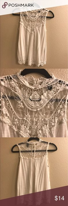 White crochet lace blouse Super cute. New without tags. Washed once. Forever 21 Tops Blouses