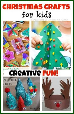 Christmas Crafts for Kids- for related pins and resources follow http://www.pinterest.com/angelajuvic/the-magic-of-christmas/