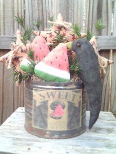 Primitive Americana Arrangement / Watermelon by imaproudcrafter