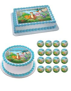 The Land Before Time Edible Birthday Cake OR Cupcake Topper – Edible Prints On Cake (E.P.O.C)